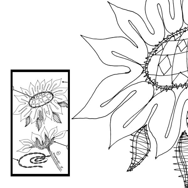 Pattern 2 sunflowers
