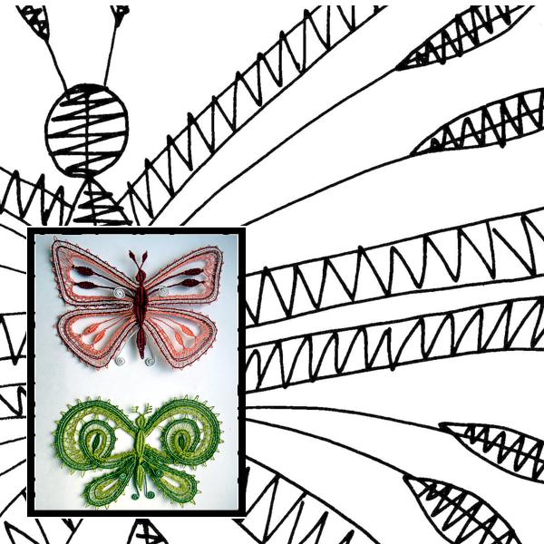 Klöppelbrief Schmetterlinge 2