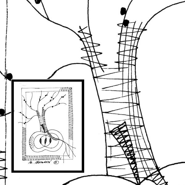 Pattern apple tree
