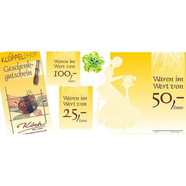 Geschenk-Gutschein 25 Euro