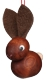 Wooden Miniatures to Hanging - Spring Leather-Ear Rabbit