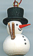 Wooden Miniatures to Hanging - Christmas Snowman