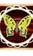 Holzhänger Schmetterling, farbig Schwalbenschwanz