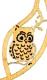 Wooden drop bowl Owl