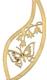 Holzring mit Motiv Schmetterling