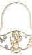 Holzrahmen Glocke mit Motiv Engel mit Kerze