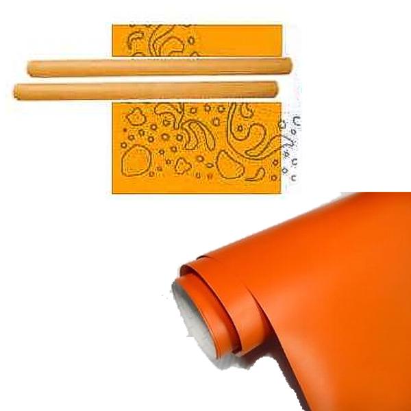 Kl ppelshop klebefolie orange breite 0 45 meter for Durchsichtige klebefolie