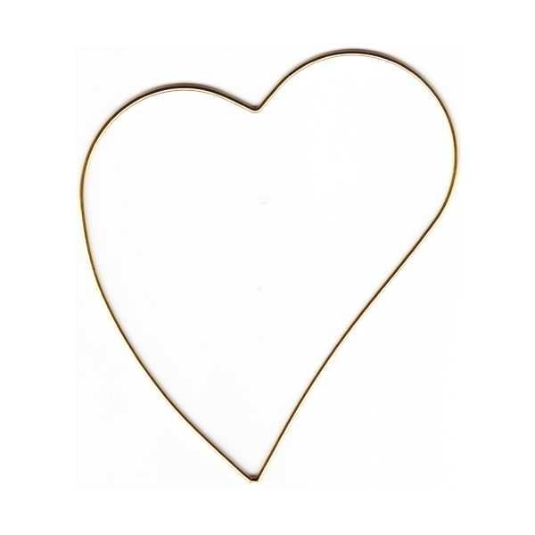 Kloeppelshop Metal Frame Skew Heart